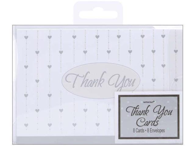 Thank You Cards & Envelopes 8/Pkg-Formal Affair Glitter