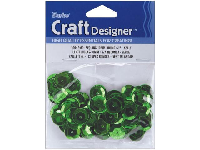 Cupped Sequins 10mm 120/Pkg-Kelly Green