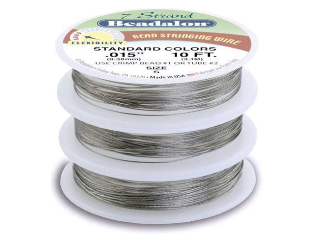 Stringing Wire 7-Strand Variety Pack 10ft 3/Pkg-Brilliant