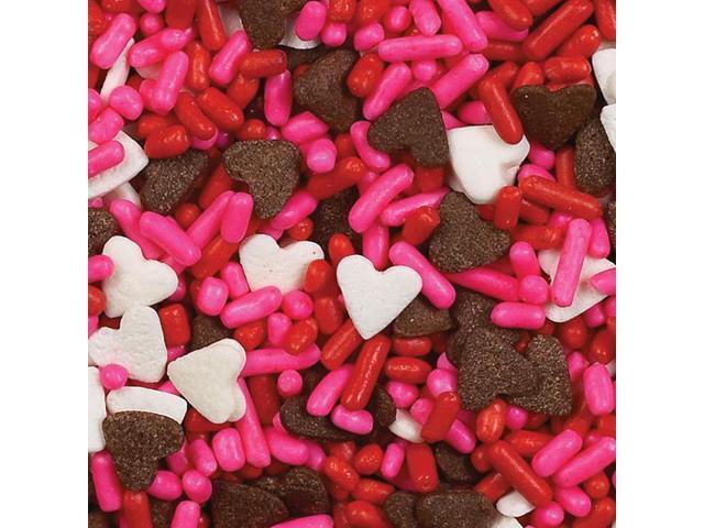 Sprinkles 3.75 Ounces-Chocolate Hearts Mix