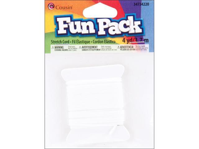 Fun Pack Stretch Cord 1mmX4yd-White