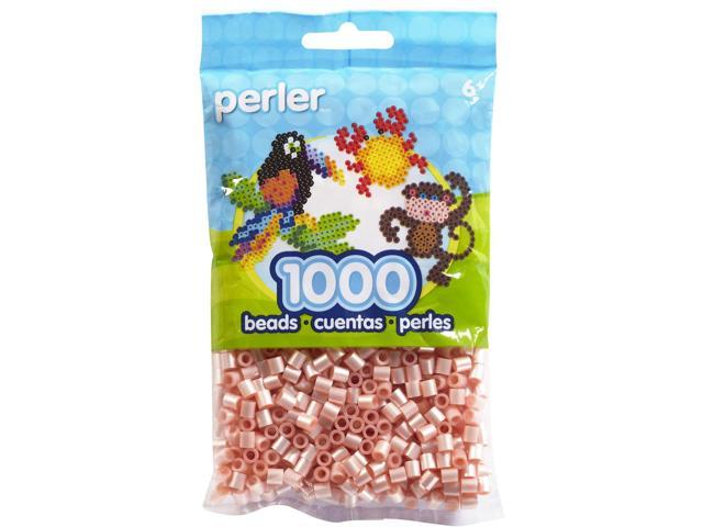 Perler Fun Fusion Pearl Beads 1000/Pkg-Light Pink
