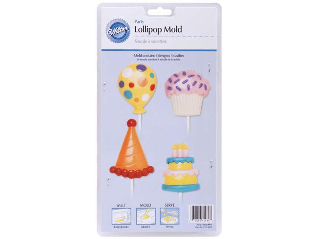 Lollipop Mold-Birthday 4 Cavity (4 Designs)