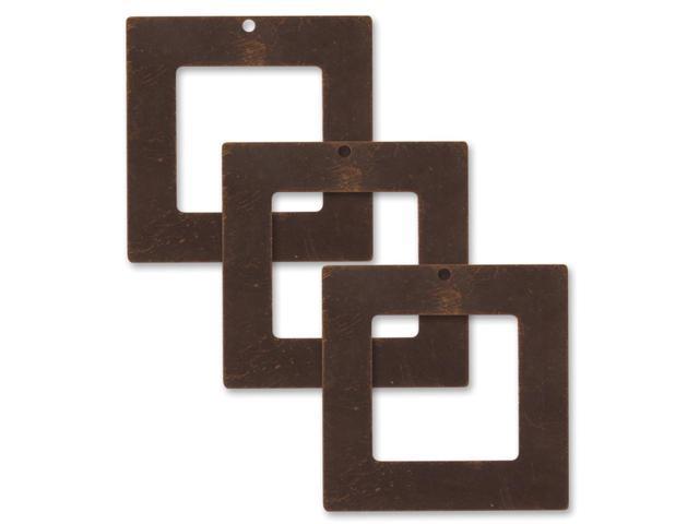 Vintaj Metal Accents-Square Frames 29mm 3/Pkg