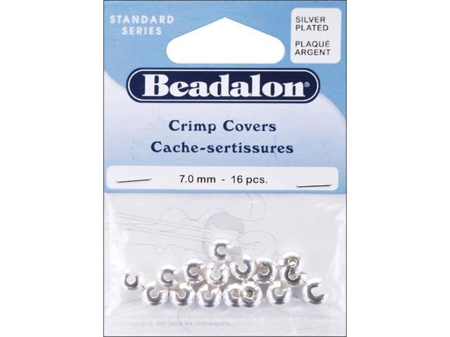 Silver-Plated Crimp Covers-7mm 16/Pkg