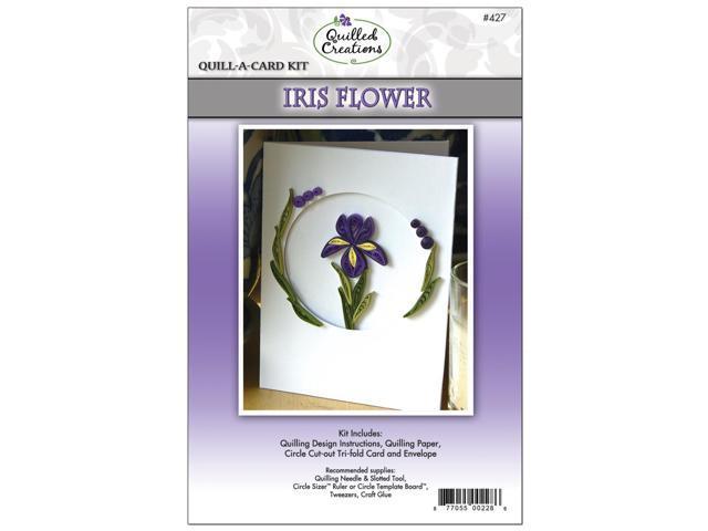 Quill-A-Card Kit-Iris Flower