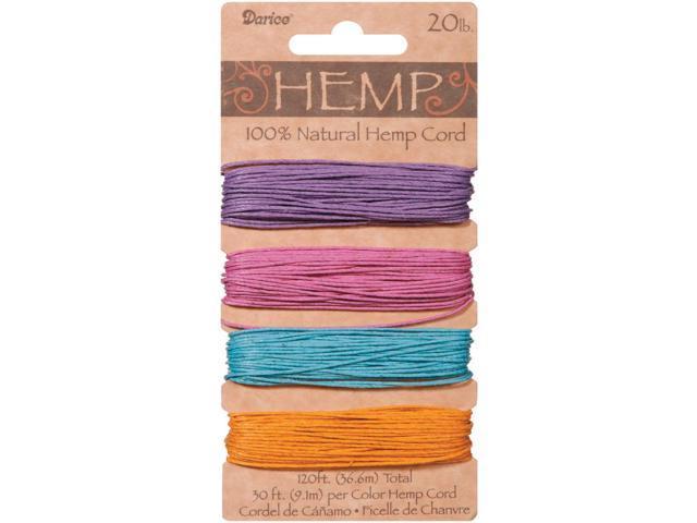 Hemp Cord 20lb 120'-Pastels