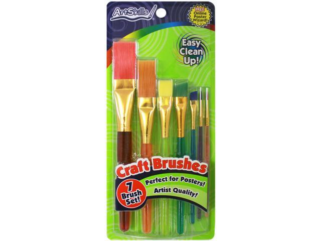 Craft Brushes 7/Pkg-Assorted Sizes From Detail To Broad