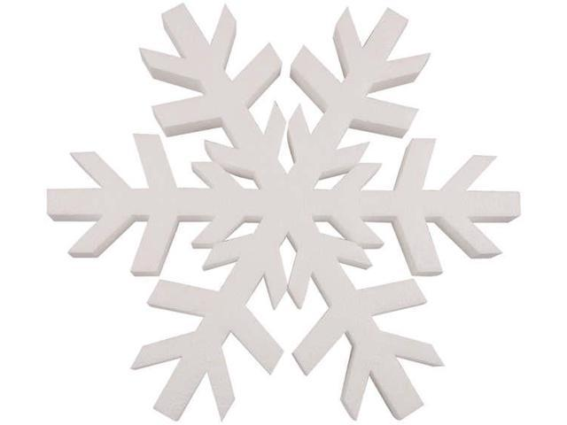 Smooth Foam Snowflake-12