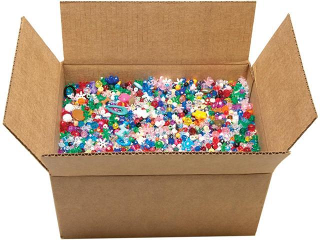 Mixed Plastic Beads 10lb-Assorted Shapes & Sizes