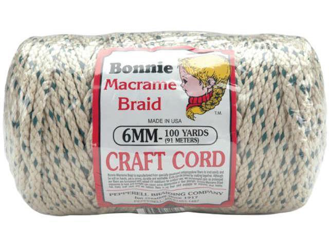 Bonnie Macrame Craft Cord 6mmX100yd-Forest Chip