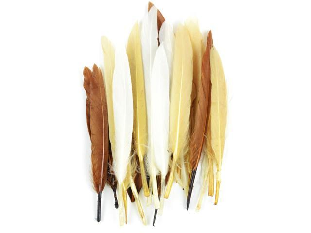 Duck Quill Feathers 24/Pkg-Earth Mix