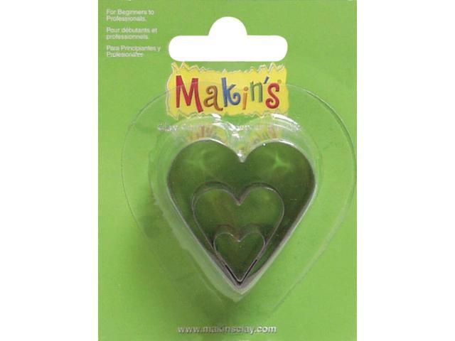 Makin's Clay Cutters 3/Pkg-Heart