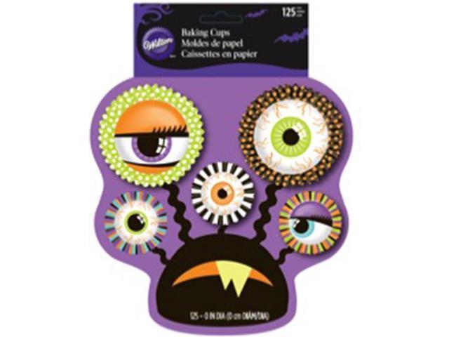 Standard And Mini Baking Cups-Halloween Eye 125/Pkg
