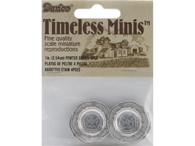 Timeless Miniatures-Pewter Plates 4/Pkg