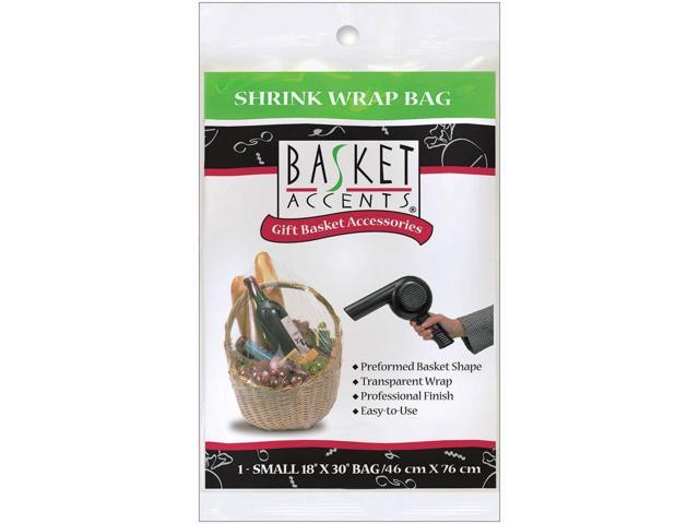 Basket Accents Shrink Wrap Bag Small 18
