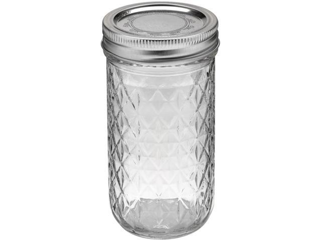 Ball Quilted Crystal Jelly Jar-12oz