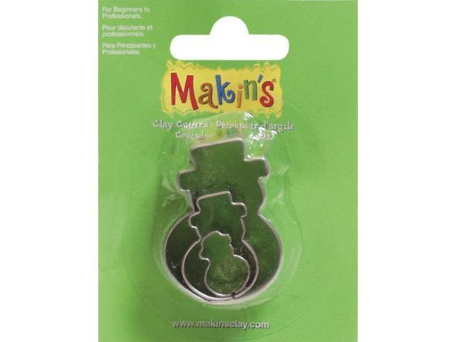 Makin's Clay Cutters 3/Pkg-Snowman