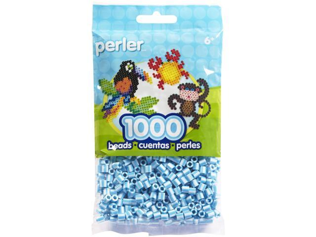 Perler Fun Fusion Striped Beads 1000/Pkg-Sky Blue