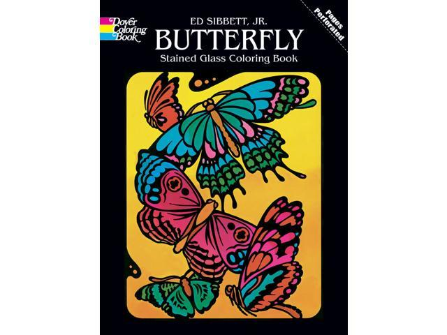 Dover Publications-Butterfly Stained Glass Coloring