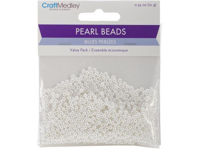 Pearl Beads Value Pack -3Mm White 850/Pkg