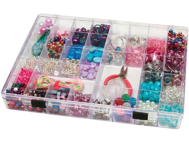 Darice 2025-179 Plastic Storage Box 11-3-4 in. X8-3-4 in. X1-1-2 in.  35 Compartment-