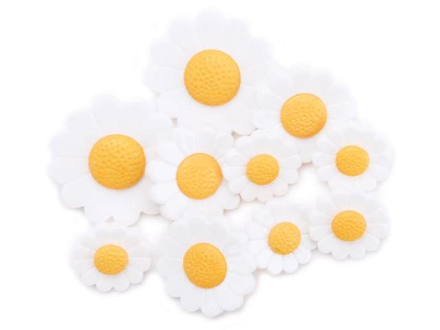 Favorite Findings Buttons-Just Daisies 9/Pkg
