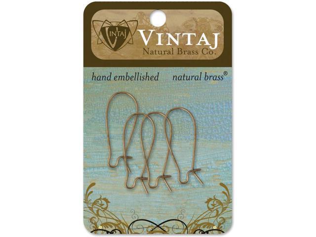 Vintaj Metal Ear Wires-Arched 26mmX11mm 4/Pkg