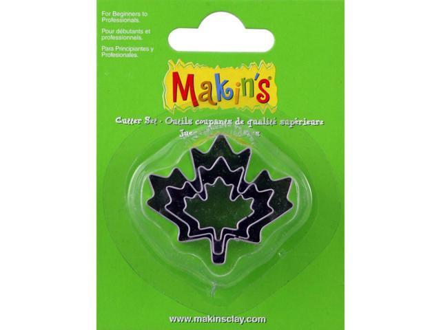 Makin's Clay Cutters 3/Pkg-Maple Leaf