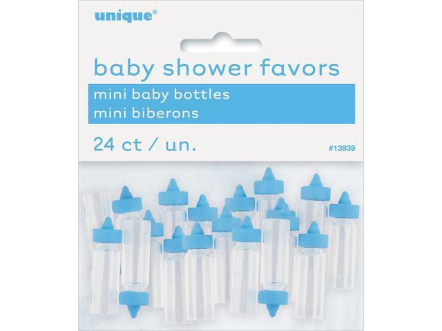 Party Favors 24/Pkg-Blue Baby Bottles