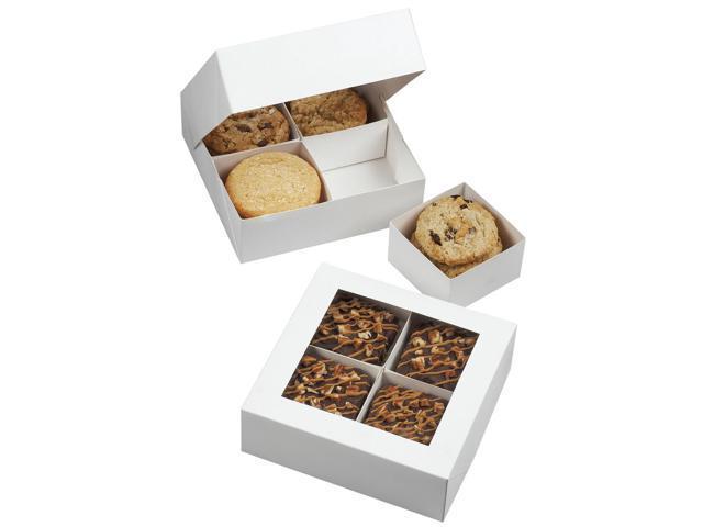 Compartment Boxes 3/Pkg-White 4 Cavity 6.3