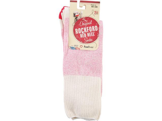 Red Heel Monkey Socks 2 Pairs-Size Large Pink