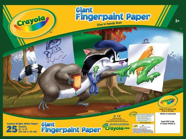 Crayola Llc 25 Count Giant Fingerpaint Paper  99-3405 - Pack of 6