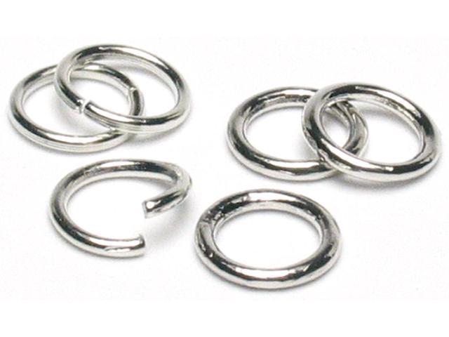 Jewelry Basics Metal Findings 200/Pkg-Silver Jump Rings 8mm