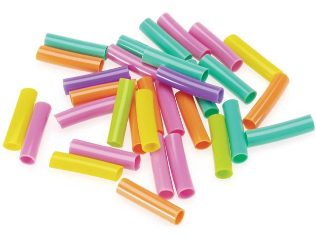 Plastic Straw Beads 75g-Assorted Colors