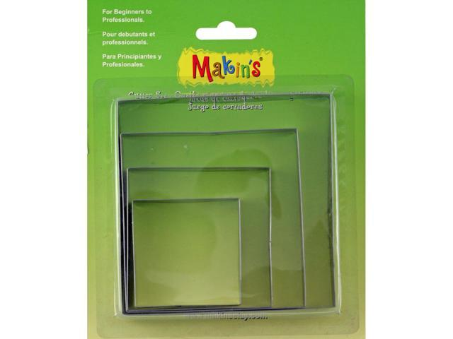 Makin's Clay Cutters 4/Pkg-Square