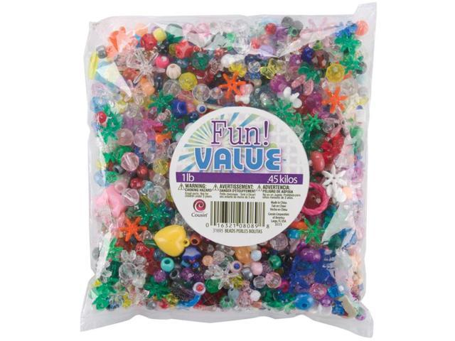 Fun Pack Beads 16oz-Assorted Shapes & Sizes