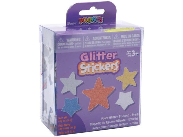 Foam Glitter Stickers 1.05oz-Stars