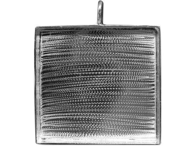 Designer's Square Base Pendant 47mm 1/Pkg-Silver Overlay