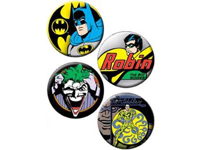 Button Set 4/Pkg-Batman, Robin & Joker