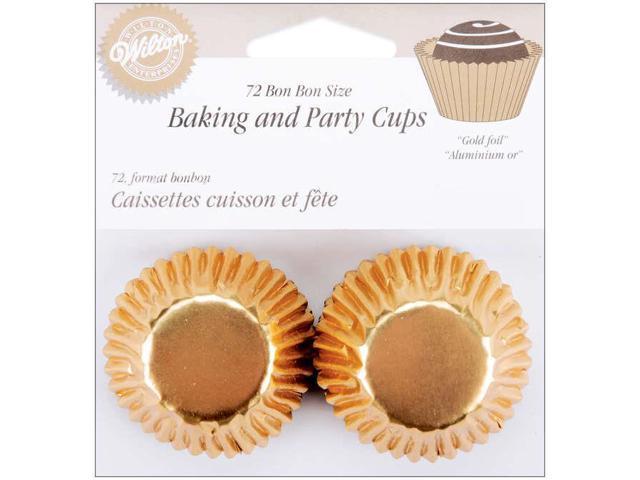 Standard Baking Cups-Bon Bon-Gold Foil 72/Pkg