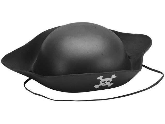 Foam Pirate Hat-Black