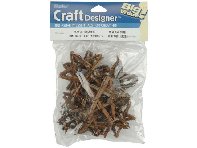 Grapevine Miniatures-Assorted Stars 12/Pkg