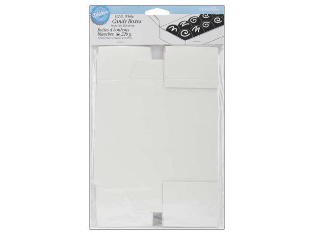 Candy Boxes-White .5lb 3/Pkg
