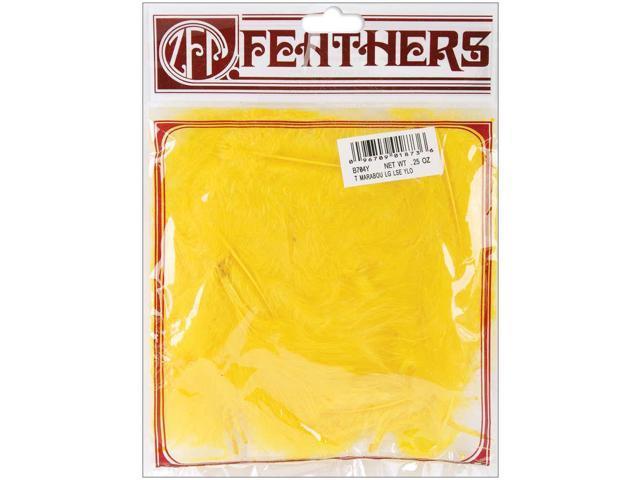 Marabou Feathers .25oz-Yellow
