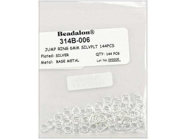 Jump Rings 6mm 144/Pkg-Silver-Plated