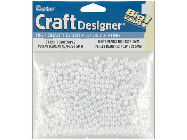 Pearls 5mm 1,000/Pkg-White
