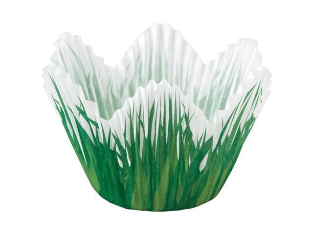 Baking Cups-Shaped Grass 24/Pkg-Standard