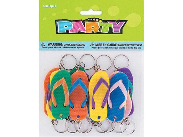 Party Favors 12/Pkg-Flip-Flop Key Chains