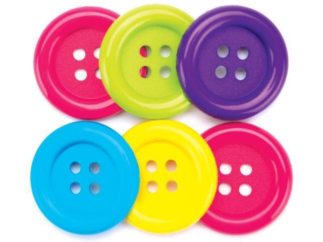 Favorite Findings Big Buttons 6/Pkg-Fun